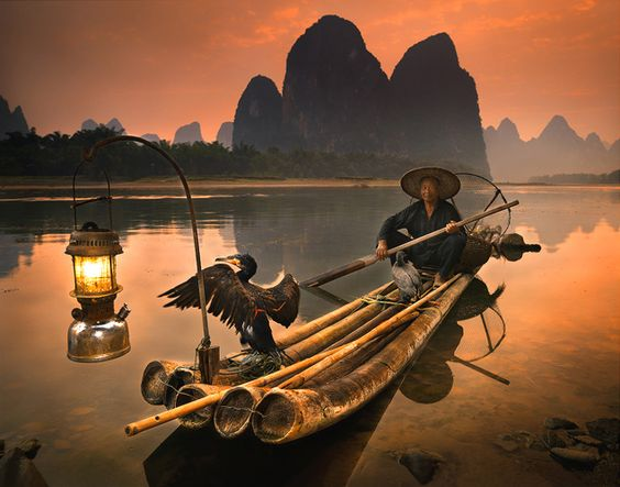 กุ้ยหลิน เที่ยวจีน เที่ยว เที่ยวคนเดียว จับปลา