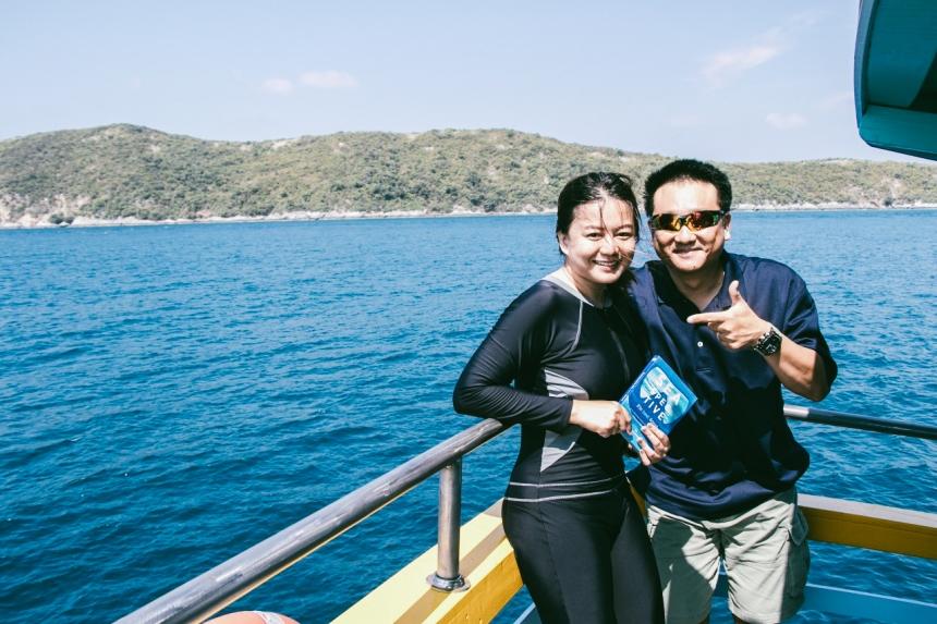 แสมสาร, เรียนดำน้ำ, freediving