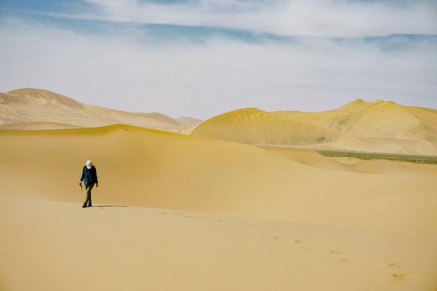 เที่ยว, จีน, ทะเลทราย, เที่ยวคนเดียว
