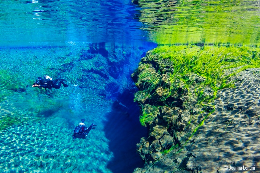 Divers at Silfra Fissure